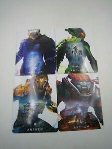 PS4 Xbox One PC Anthem Pre-Order Bonus Magnet Magnetic Sheets Set of 4 NO GAME