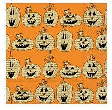 PUMPKIN TOSS Cocktail Paper Napkins by IHR, PKG of 20 Jack-O-Lanterns, Halloween