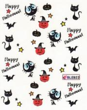 Nail art stickers décalcomanie: Halloween citrouilles chats étoiles citrouilles