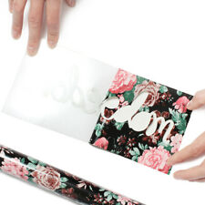 New listing Flower Pattern Heat Transfer Vinyl Decor Cloth T-Shirt Heat Press 50cmx50cm
