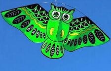 Besra Huge 45'' Nylon Green Owl Kite New