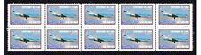 Klm Air Fokker 7C Flight Cent Strip Of 10 Mint Vignette Stamps 5