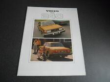 VOLVO 240 brochure catalogue documentation - année modèle 1979