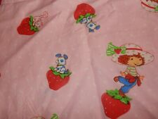 Strawberry Shortcake Puppy Kitty Pink Toddler bed Flat/Top Sheet (Fabric)