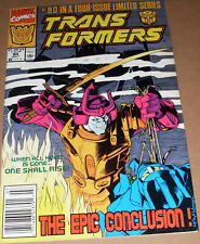 Transformers #80 Newsstand Variant Marvel Comics 1984 Last Issue Generation One