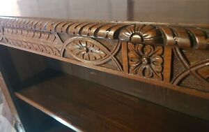 Magnificent very large carved Walnut Victorian Open Bookcase superb quality 1850