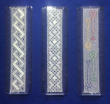 """Bobbin Lace 6"""" Ruler Insert Kit. 3 New Designs by Harlequin Lace. Quick Kits"""