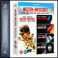 MISSION IMPOSSIBLE - 5 MOVIE COLLECTION BOXSET  *BRAND NEW BLU-RAY REGION FREE*