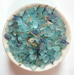 10g WITCHES BLUE SALT Evil Eye Protection Healing Legal Justice, coarse ground