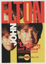 "ELTON JOHN ""Tantrums and Tiaras"" Movie Postcard 1997 Tower Records Gay Music"