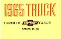 1965 Chevrolet Truck Owners Manual User Guide Reference Operator Book Fuses OEM