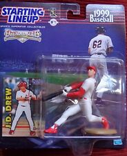 J.D. DREW (St, Louis Cardinals)1999 BASEBALL STARTING LINEUP FIGURE W/CARD MINT