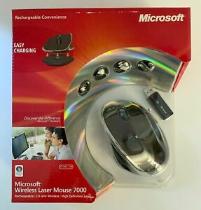 NEW NIB MICROSOFT 2.4GHz WIRELESS RECHARGEABLE LASER MOUSE 7000 SEALED