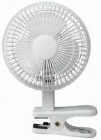 Fine Elements Portable Air Cooling White Small 6'' inch Clip on Desktop Desk Fan