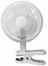 Fine Elements Portable Air Cooling White Small 6 Inch Clip On Desktop Desk Fan