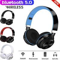 Wireless Bluetooth Headphones Foldable Stereo Earphones Super Bass Headset Mic Y