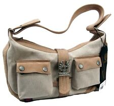Genuine Belstaff Debby Shoulder Bag Purse Nubuck Canvas NWT