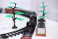 Elektrische Eisenbahn mit Rauch Licht und Klang Set Zug Waggons Schienen Zubehör