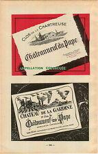 ADVERT Vineyard Wine Cotes du Rhone Chateauneuf du Pape Clos de la Chartreuse