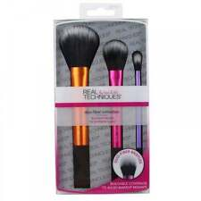 Real Techniques Duo-Fiber Collection Gift Set 3 x Brushes - NEW - FREE P&P - UK