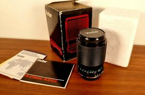 Vintage Vivitar 70-210mm f4.5 - f5.6 Lens Macro Focusing Box and Manual