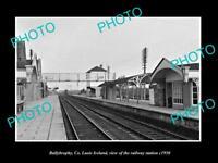 OLD LARGE HISTORIC PHOTO OF BALLYBROPHY LAOIS IRELAND THE RAILWAY STATION c1950