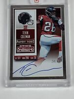 Tevin Coleman 2015 Panini Contenders Playoff Ticket Auto 24/49 Autograph Rookie