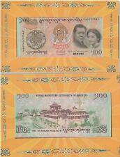 BHUTAN Commemorative Banknote with Folder UNC
