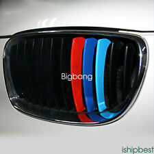 """10"""" M-Color Kidney Grill Stripe Decal Sticker Decoration For BMW M3 M5 M6 E46 HB"""
