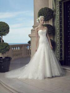 1173W CASABLANCA 2203 SZ 12 IVORY $2397  BALL GOWN BEADED WEDDING DRESS