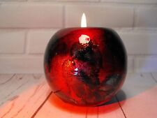 TEA LIGHT HOLDER RED AND BLUE / BLACK CANDLE TEA LIGHT DECORATION  SMALL CANDLE