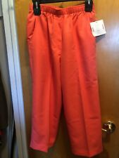NWT Kim Rogers Klee Coral Elastic Waist Capris With Pockets  Size 8 Nice