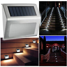 6 Pack 3 LED Solar Power Stair Light Outdoor Garden Pathway Step Decking Wall
