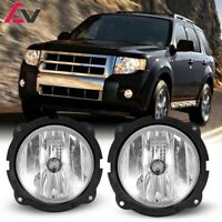 07-12 For Ford Escape Clear Lens Pair OE Fog Light Lamp+Wiring+Switch Kit DOT