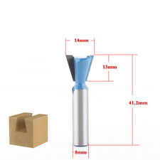 1Pcs 14mm Dovetail Joint Router Bit 8mm Shank Woodworking tools milling cutter