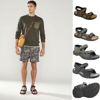 Mens Sorts Summer Sandal Casual Hiking Trail Walking Flats Touch Fastening Shoes