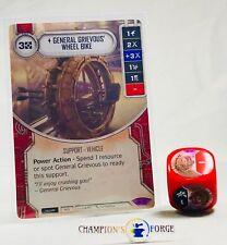 Star Wars Destiny Way of the Force General Grievous Wheel Bike #31 w/ Die