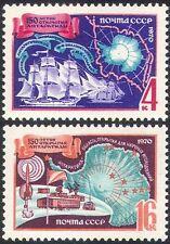 Russia 1970 esplorazione Antartico/Navi a vela/Radio/Rocket/Set MAP 2 V (n11798)