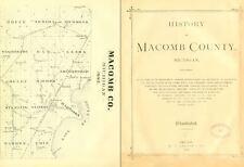 1882 MACOMB County Michigan MI, History and Genealogy Ancestry Family DVD CD B07