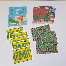 Lot of 15 Vintage 1986 Gumby & Pokey Postcards Lifes A Beach 3D Glasses Shopping