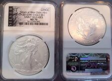 2012 (W) Silver Eagle NGC MS70 Silver Label