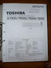 Manual De Servicio Toshiba V-110/120 Vídeo Record,ORIGINAL