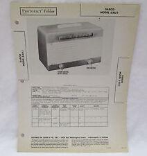 Vintage Photofact Folder Garod Model 6AU-1 Radio Parts Manual