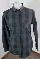 NWT Men's FIVE FOUR L/S Button Front Shirt Green/Gray Big Gingham Sz Medium!!