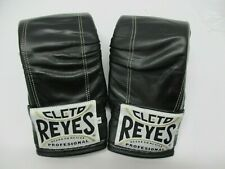 Cleto Reyes Leather Boxing Bag Gloves - Black - Large (8 oz)