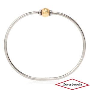 Estate 14K Gold Sterling Silver Bangle Bracelet 10.5 Grams NR