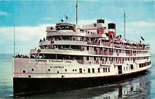 Canada Steam Ship Lines St. Lawrence Postcard