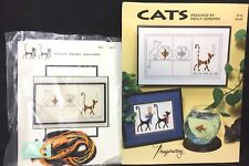 Imaginating Silly Snobs Cats Cross Stitch Kit & Pattern You Are What You Eat