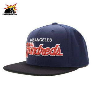 The Hundreds Team Two Snapback Baseball Cap Hat Navy OS NWT $36 43€ Streetwear