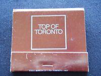 TOP OF TORONTO CN TOWER RESTAURANTS LTD MATCHBOOK
